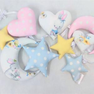 Girlanda pastelowa z króliczkami :)