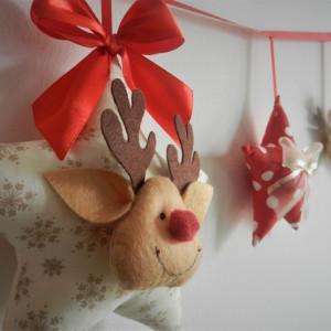 Girlanda Świąteczna z Reniferkiem :)