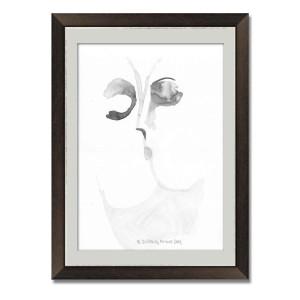 Grafika czarno biała z pocałunkiem, A3