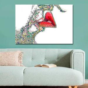 Grafika miłosna usta 120 x80 drukowana na płótnie