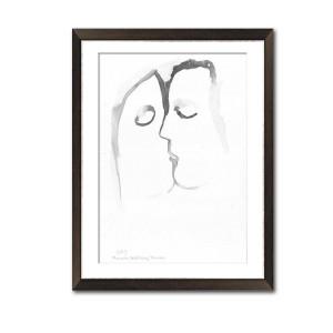 Grafika pocałunek 20, format A3, ręcznie malowana