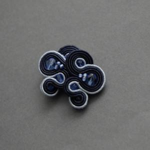 granatowo-niebieskie kolczyki lub klipsy sutasz 3