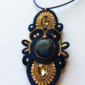 Granatowo-złoty wisior  Lapis Lazuli