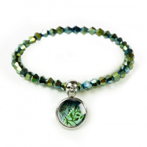 Green bransoletka z koralików