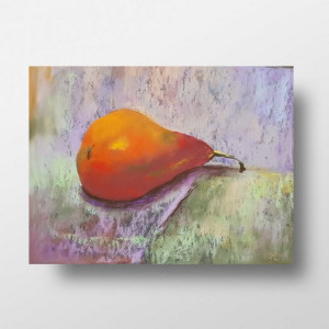 Gruszka-praca wykonana pastelami 24/18 cm