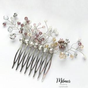 Grzebyk do włosów z koralików/ślub/grzebień