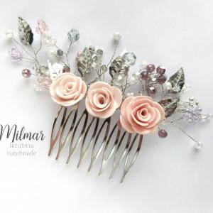 Grzebyk do włosów z rożami