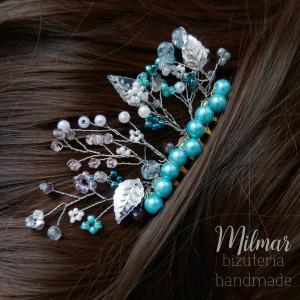 Grzebyk okazjonalny do włosów NIEBIESKI