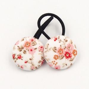 Gumeczki do włosów w kwiatuszki FLORENCE PINK