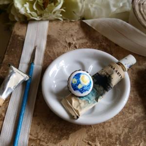 Gwiaździsta noc-fragment, van Gogh, pierścionek