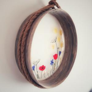 Haft na przetaku (sicie) - kwiaty polskie