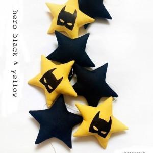 HERO- girlanda black & yellow