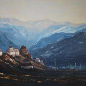 Himalaje - olej na płótnie