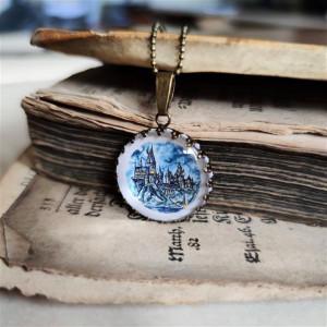 Hogwart, Harry Potter Ręcznie malowany naszyjnik