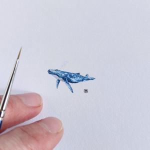 Humbak, waleń, miniatura