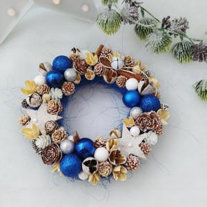 Indygo - wianek świąteczny na stół