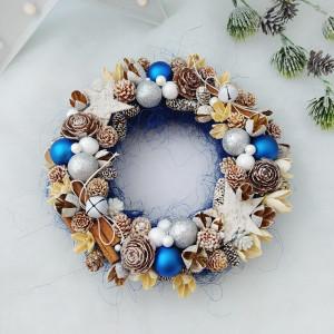 Indygo - wianek świąteczny średni