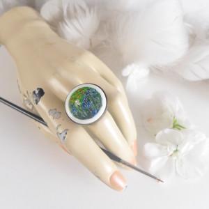 Irysy , van Gogh,  pierścionek