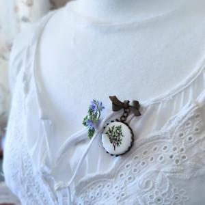 Jagody, ręcznie malowana porcelana