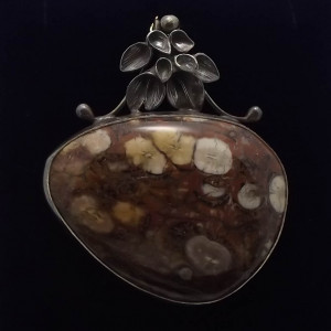 Jaspis orbikularny w srebrze