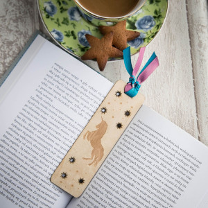 Jednorożec drewno - zakładka do książki