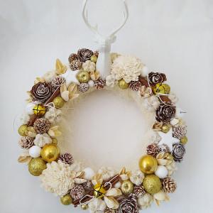 Jeleń id gold- wianek świąteczny na zamówienie