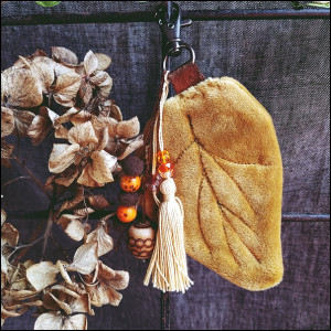 Jesienny listek - breloczek