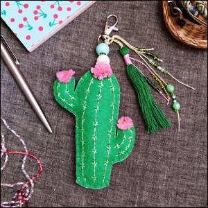 Kaktus - breloczek