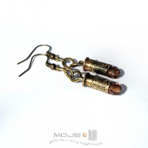 Kaliber 5,6 - w brązie 01 (łuski) - kolczyki