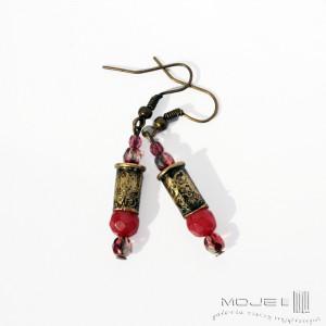 Kaliber 5,6 - w czerwieni i różu - kolczyki