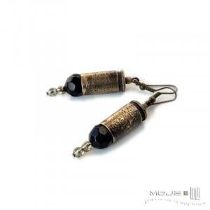 Kaliber 9 - w czerni 01 (łuski) - kolczyki