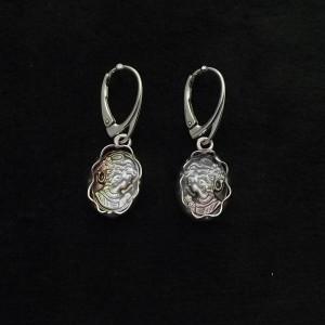 Kamea  macica perłowa w srebrze kolczyki