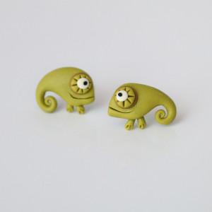 Kameleon - designerskie kolczyki wkręty