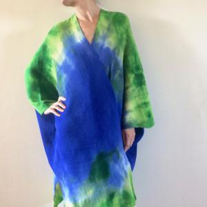Kardigan wełniany w formie kimona