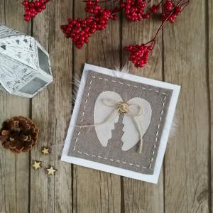 Karta rustykalna Skrzydła Anioła beż