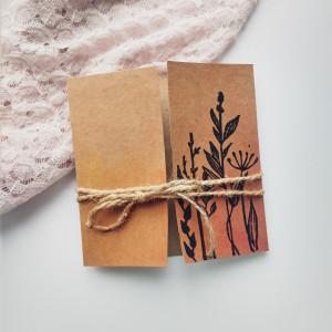 Kartka Eco z kwiatami polnymi minimalistyczna 2