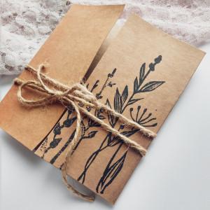 Kartka Eco z kwiatami polnymi minimalistyczna 5