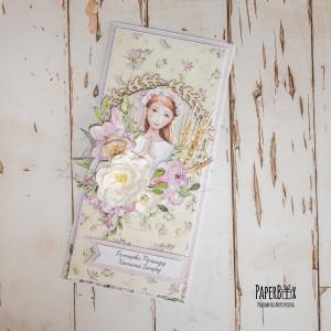 Kartka komunijna dla dziewczynki #01