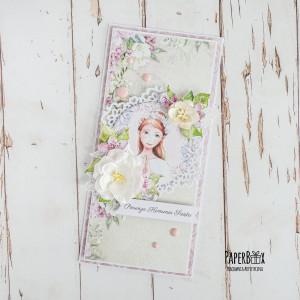 Kartka komunijna dla dziewczynki #02