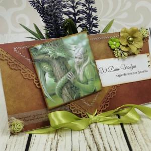 Kartka kopertówka--smoki i elfy (k7)