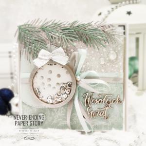 Kartka na Boże Narodzenie - z Shaker Boxem