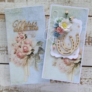 Kartka na ślub kwiatowa a4