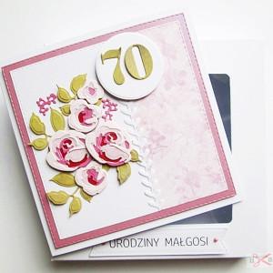 Kartka na urodziny cieniowane róże