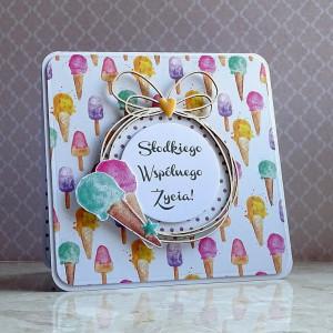 Kartka pełna słodyczy