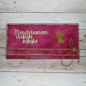 Kartka slubna kopertówka -róż