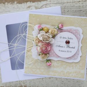Kartka ślubna kwiatowa 7