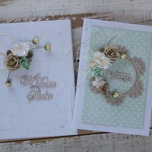 Kartka ślubna kwiatowa na pieniądze A5