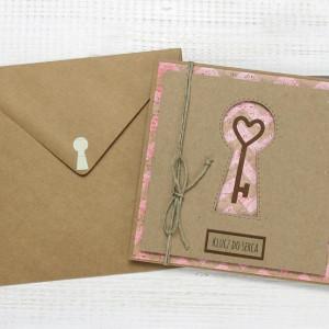 Kartka ślubna/miłosna w kopercie (ks150)