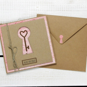 Kartka ślubna/miłosna w kopercie (ks153)