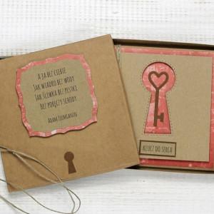 Kartka ślubna/miłosna w pudełku (ks145)